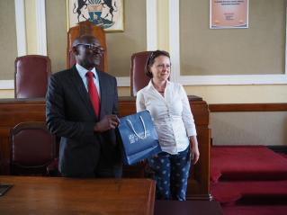 Eng. Hosiah Chisango, Town Clerk of City of Harare and Dr Lavinia Hirsu