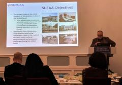 SUEUAA Director presenting at the British Academy