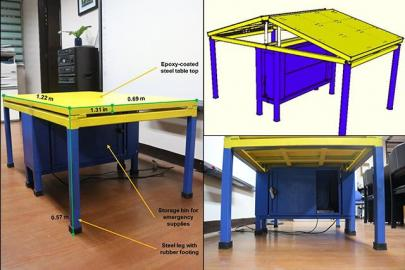 Quake-proof desk for kindergarten students